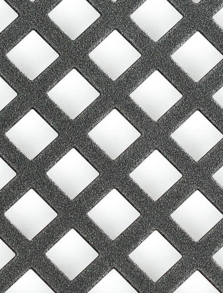 Decorative Grilles Lattice Pewter 1x1m With No Backing