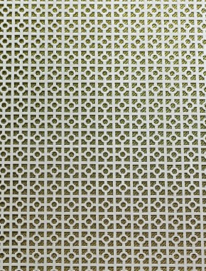 Decorative Panel Moroccan Silver Anodised 2 X 1m With