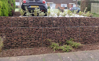 Gabion parking area by Chris Ryall