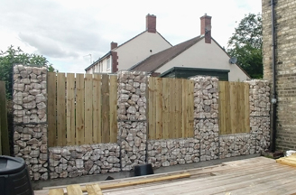 Deans_timber_and_gabion_post_boundary_fence