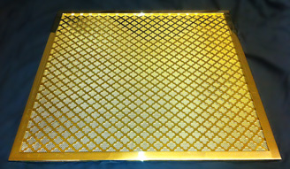 Brass framed grille